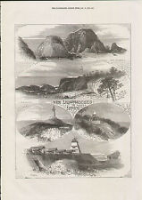 1872 JAPAN NEW LIGHTHOUSES OSAKA SATANOMISAKI CAPE CHICHAKOFF