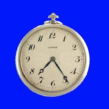 Mint Deco Platinum Cartier Dress Ultra-Thin Pocket Watch 1920