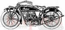 Deep Red Rubber Cling Stamp Indian Motorcycle Vintage Style Chopper