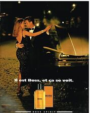 Publicité Advertising 1992 Eau de Toilette Hugo Boss Spirit
