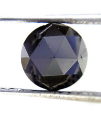 1.39TCW 6.6 MM Round Rose cut Jet Black AAA Color African Natural Loose Diamond