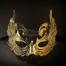 Luxury Metal Mardi Gras Venetian Masquerade Mask for Women M7166 [Gold]