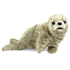 Harbor Seal Hand Puppet w/ Moveable Mouth, Folkmanis MPN 2537, 3 & Up