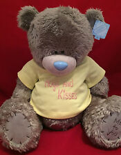 "ME TO YOU BEAR TATTY TEDDY X-LARGE 24"" HUGS AND KISSES YELLOW T-SHIRT PLUSH GIFT"