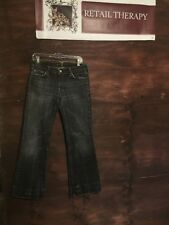 7 For All Mankind Women's Jeans 31 Black Distressed Wash Boot Cut