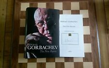 The New Russia SIGNED Mikhail Gorbachev Hardback 2016 1st edition 3rd impression