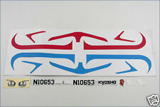 A0653-03 Kyosho Adesivi (Rosso / Blu) - Flybaby