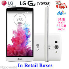 "5.5"" LG G3 VS985 32GB 4G LTE Android Smartphone Factory Unlocked + Verizon White"