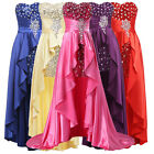 Pageant High Low Wedding Evening FORMAL Party Pageant Gown Prom Bridesmaid Dress