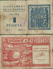 1 Peseta. Ayuntamiento de La Garriga. Barcelona. 2ª Emisión. Julio 1937. Nº 647.