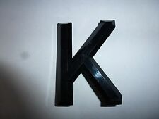 Classic Car Number Plate Raised Plastic 3D Letters & Number Digits K