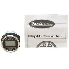 Faria Boat Depth Finder Gauge DS0173A | Black 2 Inch Digital