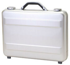 "TZ Case 3"" Molded Aluminum Slim Line Attache Briefcase - Silver"