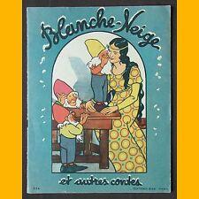 BLANCHE-NEIGE ET AUTRES CONTES Éditions Bias 1952