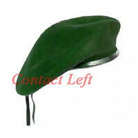 New WOOL Mens Ladies Green Beret Hat Cap Army Military - Fashion or Fancy Dress