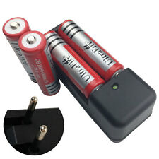 4X 18650 6800mAh 3.7V Li-ion Rechargeable Battery + 4.2V EU Plug Charger