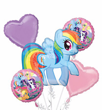 My Little Pony Mylar Balloon Bouquet Birthday Decorations Party Favors Supplies.