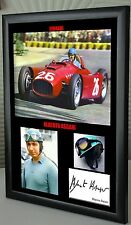 "Alberto Ascari F1 Ferrari Framed Canvas Signed Print ""Great Gift"""