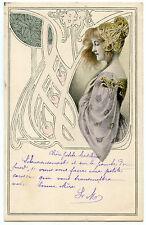 ART NOUVEAU. ILLUSTRATEUR.JOLIE FEMME. GORGEOUS WOMAN. M.M. VIENNE. MODERN STYLE