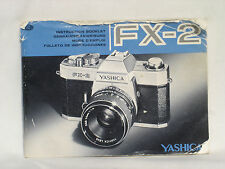 YASHICA FX-2  Instruction / owners Manual. ( booklet )