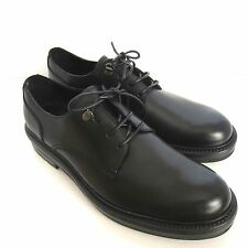 C-1139218 New Ermenegildo Zegna Black Derby Captoe Shoes Size US 8.5 Marked 7.5