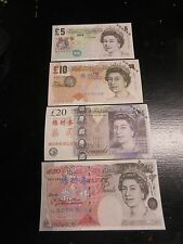 China Banktells' G.BRITAIN 4 NOTES SET Training Banknotes/ Paper UNC FROM BUNDLE