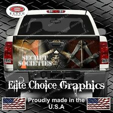 Free Masons Truck Tailgate Wrap Vinyl Graphic Decal Sticker Wrap