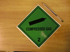 """150mm """"Compressed Gas 2""""  decal sticker self-adhesive  - Van 