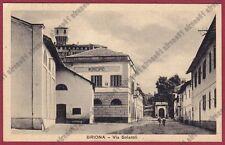 NOVARA BRIONA 12 MUNICIPIO Cartolina viaggiata 1937