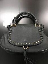 CHLOE MARCIE MEDIUM STUDDED Satchel Crossbody, Shoulder bag - BLACK & GOLD - NWT