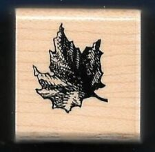 MAPLE TREE LEAF A71 Scene Landscape gift tag New STAMPENDOUS! 1989 RUBBER STAMP