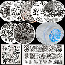 11Pcs/set BORN PRETTY Butterfly Theme Nail Art Stamp Plates Stamper W/Scraper