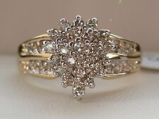 Kay's 1CT Diamond Cluster Engagement Anniversary Ring- Solid 10K Gold- Size 7