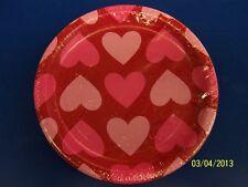 "Lotta Hearts Valentine's Day Birthday Red Pink Party 7"" Paper Dessert Plates"