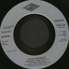 """KYLIE MINOGUE step back in time 7"""" WS EX/ uk PWL 64 noc"""