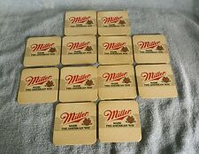 """12"""" MILLER"""" """" MADE THE AMERICAN WAY"""" MILWAUKEE, WISCONSIN;COASTERS;DOUBLE SIDED"""