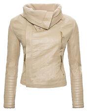 Art Leather Jacket Between-seasons short Biker in look D-65/D-77