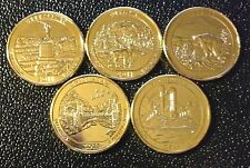 2011 D 24K GOLD LAYERED AMERICA THE BEAUTIFUL NATIONAL PARKS QUARTER SET