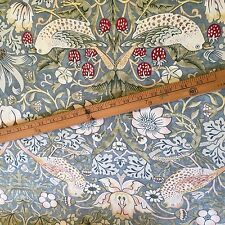 The Strawberry Thief By William Morris Slate Cotton Fabric