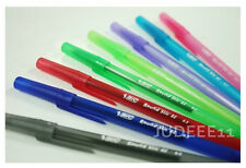 8PCS BIC Round Stic EZ New Product Ballpoint Pen Easy Glide Ink Office 0.5mm