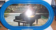 ESTONIA  BLACK GRAND PIANO SOUVENIR TIN TRAY MADE IN RUSSIA BY NORMA EUC