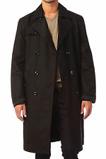DIESEL J-NANDA BLACK TRENCH COAT SIZE L 100% AUTHENTIC