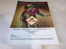 LENNY KRAVITZ - Publicité de magazine / Advert !!! CONCERT 1991 !!!