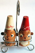 SALT AND PEPPER SHAKERS RETRO AND VINTAGE HAND MADE.