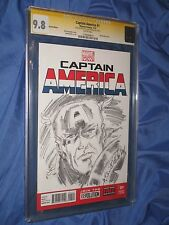 CAPTAIN AMERICA #1 CGC 9.8 SS Signed/Original Art Sketch Allen Bellman AVENGERS