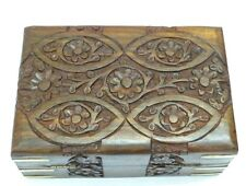 Wooden Antique Designer Carved Multipurpose Jewellery box Home Decor Gift Item