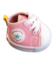 "Pink Canvas Tennis Trainers Teddy Shoes to fit 15"" (40cm) build a bear plush ted"