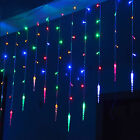Multi 4M*0.7M 100SMD Icicle LED String Curtain Lights Holiday Xmas Wedding Decor