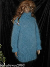 Handgestrickt pull mohair mohair Lungo M/L unisexe Hand knitted sweater