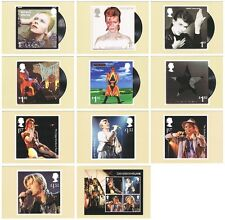 DAVID BOWIE COMPLETE SET of ELEVEN POSTCARDS featuring ALBUM COVERS/TOURS